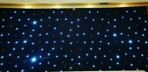 Black Led Star Cloth 6m x 3m used once