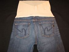 Citizens of Humanity Maternity Bootcut Jeans Sz 28 Blue Distressed w Stretch L29