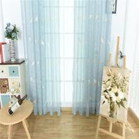 Kinderzimmer Gaze Gardine mit Kräuselband Bestickt Vogel Muster Deko Zubehör