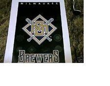 "New listing ESTATE FIND NO PINHOLES MINT 1994 MILWAUKEE BREWERS ""MLB BASEBALL LOGO"" POSTER"