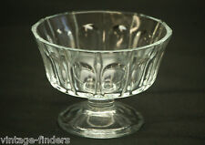 Vintage Clear Glass Thumbprint Ice Cream Sherbet Dish by Kig Indonesia