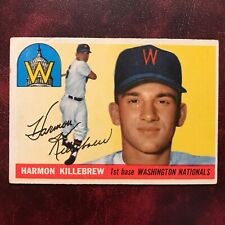 1955 Topps Set HARMON KILLEBREW ROOKIE #124 WASHINGTON SENATORS NATIONALS VG-EX