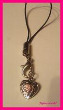 Hübsches Herz mit Straßstein Handyanhänger Schlüsselanhänger NEU  (c828)