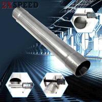 "Galvanized Steel Universal Exhaust Resonator Pipe 2.5""ID x 18"" Length straight"