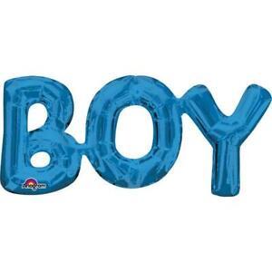 NEW Boy Blue Foil Phrase Balloon (each) Partyware Gifts School