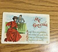 Antique Vintage Greeting Postcard Early 1900s Collectible Post Card Christmas