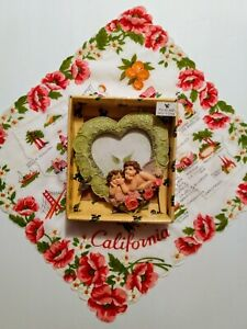 Vintage Heart  photo Frame Valentine Photo Frame Cherub Photo Frame
