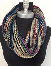Fashion Scarf Ladies Infinity Long 2-Circle Cable Knit Cowl Neck Scarf Wrap Soft