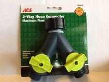 Ace Trading Hose Splitter Connector 2 Way Valve Shutoff Heavy Duty Plastic