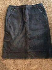 J. JILL Stretch Denim Skirt Size 10 NWT $59