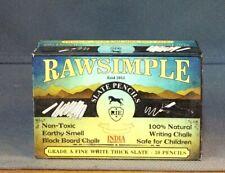 RawSimple Slate Pencils Grade A Fine White Thick Slate Pencils Open
