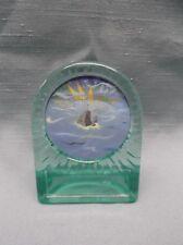 lot of 7 FISH trophy full color hologram insert aqua acrylic style
