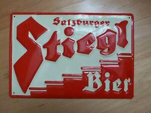targa metallo SALZBURGER STIEGL BIER - insegna - tabella pubblicitaria BIRRA