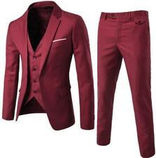 Mens Slim Fit Suits Groom Best Wedding Dress 3 Pieces Formal Business Suit Dress