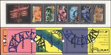 France 1994 Red Cross Fund/People/Entertainers/Film/Music/Actors 6v bklt b10019f