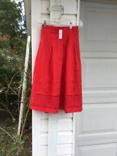 NWT Talbots Pretty Red Lace At Hem Pleated Lined Skirt 18 16W 1X