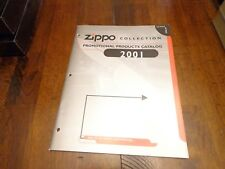 FULL SIZE PROMOTIONAL PRODUCTS ZIPPO LIGHTER CATALOG 2001 UNUSED
