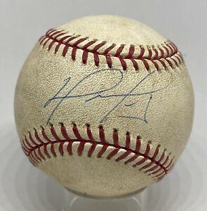 David Ortiz Signed 2007 Game Used Baseball STEINER LOA Boston Red Sox AUTO