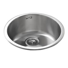 New Single Round Bowl Stainless Steel - 440mm x 185mm, kitchen sink, inc waste