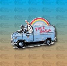 "Magic Unicorn Supreme Rainbow Van Funny MEME 4"" Custom Vinyl Decal Sticker JDM"