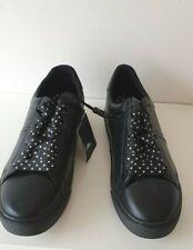 Zara Damen Schwarz Sneakers/Turnschuhe Schuhe Neu Größe UK 5 EU 38