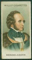 1912 Wills's Musical Celebrities, Tobacco card No. 11, Felix Mendelssohn
