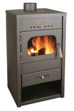 Estufa de leña chimenea 9-13 KW calefacción Acero Tapa metalik