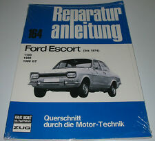 Reparaturanleitung Ford Escort 1100 1300 GT Mk 1 Hundeknochen 1968 - 1974 NEU!