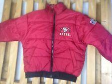 San Francisco 49ers Coat Jacket REVERSIBLE Large PRO PLAYER NFL Missing Hood