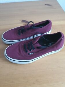 Vans Burgundy Red Skater Trainers Size UK 4 womens