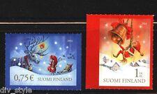 Christmas Eve Christmas Morning set of 2 mint self-adhesive stamps Finland 2014
