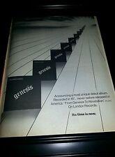 Genesis From Genesis To Revelation Rare Original Promo Poster Ad Framed!
