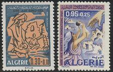 ALGERIE N°501/502** Aide aux sinistrés, Inondations 1969 ,ALGERIA  floodings MNH
