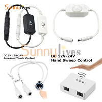 Hand Sweep/Touch Sensor Dimmer Switch for LED Strip Light DC 12V-24V ON/OFF Kit