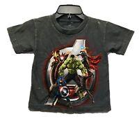 Marvel Boy's Avengers Logo Super Heroes Licensed Acid Wash T-Shirt New