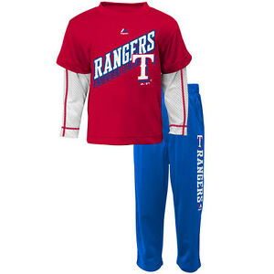 TEXAS RANGERS MLB KIDS OFF FIELD PANT SET