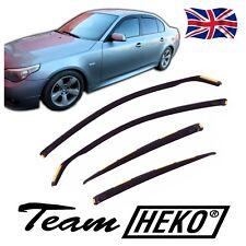 BMW 5 serie E60 4D Saloon 2004-2010 viento desviadores 4pc Heko Teñido
