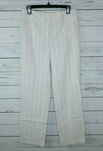Talbots Women's Stretch Multicolor Striped Cotton Pants Size 6