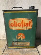 XL Bidon Oliofiat huile 1950 ancien fiat Oil oel dose oldose tin can pin up tole