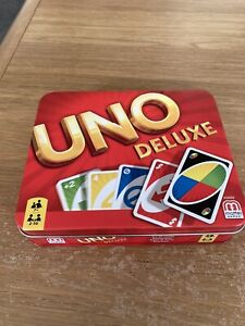 Uno Deluxe Card Game With Storage ( included instruction in English )