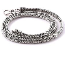 UNISEX  SNAKE Chain Necklace 925 Sterling Silver 20 Inch - 4 mm - 45 Grams
