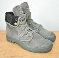 PALLADIUM Baggy Canvas Womens Ladies Desert Hi Top Boots Grey size UK 5
