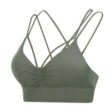 BIRDNANA Women's Sports Bra with Open Cross Back Top Gym Yoga Sportswear