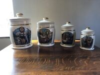 Danbury Mint M I Hummel 4 Pc Canister Collection Canisters & Cookie Jar