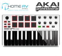 AKAI MPK Mini II MK2 Compact MIDI PAD Keyboard USB Controller WHITE EDITION