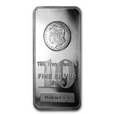 10 oz Silver Bar - Morgan Design - SKU #50038