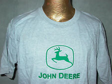 JOHN DEERE MEN'S XL GREEN 3-D APPLIQUE HEATHER GRAY SHORT SLEEVE T SHIRT, NEW!