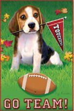 "Go Team Beagle Dog Garden Size (13"" x 18"" Approx) Flag..4....... PR 51267"