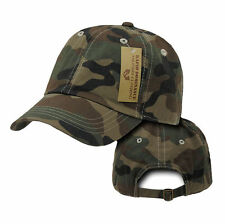 Forest Woodland Camouflage Camo Army Washed Cotton Polo Baseball Ball Cap Hat
