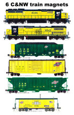 Chicago & North Western Locomotives and Train 6 magnets Andy Fletcher